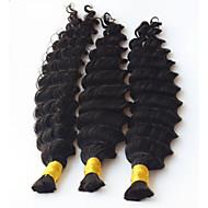 Głębokie fale ludzkie warkocze włosy luzem nie warkoczyki z kręconymi ludzkimi włosami dla mikro plecionek kręcone masowe oplotowe włosy