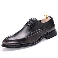Masculino sapatos Couro Envernizado Outono Inverno Oxfords Para Preto Vermelho