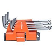 Stahlschild 9 in 1 Multifunktions-Verlängerungskugelkopf-Sechskantschlüssel / 1 Satz