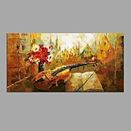 Maalattu Asetelma Vaakasuora,Moderni Classic 1 paneeli Kanvas Hang-Painted öljymaalaus For Kodinsisustus