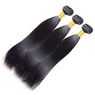 Włosy naturalne Włosy indyjskie Człowieka splotów włosów Yaki Przedłużanie włosów 1 sztuka Kruczoczarny