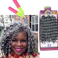 curly punokset Virkkaus Kihara Synteettinen tukka Medium Auburn Black / Medium Auburn Musta / Burgundy Keskiruskea Grey Gradient