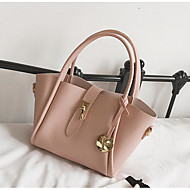 Női táska pu all seasons alkalmi szabadtéri kerek cipzár nélkül halvány rózsaszín piros fekete kék