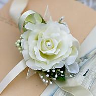 Bryllupsblomster Håndledscorsage Bryllup Chiffon 3.15 tommer (ca. 8cm)