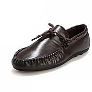 남성 보트 신발 조명 신발 PU 봄 여름 캐쥬얼 레이스-업 플랫 화이트 블랙 브라운 2.5cm 이하