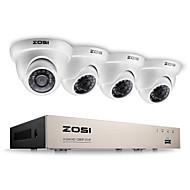 Zosi® 2.0mp 1080p hd 4 ch dvr tvi комплект для наблюдения 4 шт. 2000tvl для наружного и ночного видения камеры cctv system
