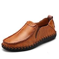 Miehet kengät Nahka Kevät Kesä Syksy Comfort Mokkasiinit Kävely Split Joint Käyttötarkoitus Kausaliteetti Musta Ruskea Viini