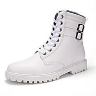 メンズ ブーツ ファッションブーツ コンバットブーツ レザー 秋 冬 ウォーキング フラットヒール ホワイト ブラック フラット