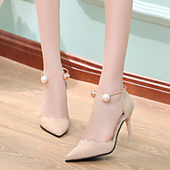 Ženske Cipele PU Ljeto Obične salonke Cipele na petu Ravna potpetica Stiletto potpetica Za Kauzalni Crn Bež Crvena Pink