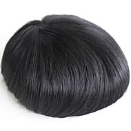 Men's Toupee Real Human Hair Pieces For Men #1 Human Hair Men's Wig