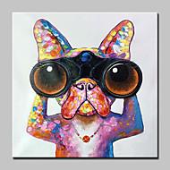 מצויר ביד בעלי חיים מופשט (אבסטרקטי) מודרני פנל אחד בד ציור שמן צבוע-Hang For קישוט הבית