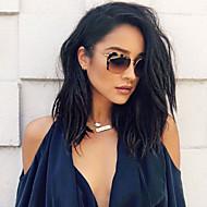 여성 인모 레이스 가발 인모 전면 레이스 밀도 웨이브 가발 흑옥색 블랙 다크 브라운 Mediumt Browm의 체스트넛 브라운 잛은 중 긴 100% 핸드 타이드 자연 헤어 라인 흑인여성 제품