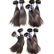 Hurtowy jedwab prosty dziewiczy włosy wiązki 1kg 10pcs partii 100% oryginalny peruwiański dziewiczy włosy ludzkie splotuje najwyższej