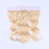 Beata hiukset brazilian remy ihmisen hiukset 613 vaaleat pitsi edessä sulkeminen pre kipattu rungon aalto 13x4 läpinäkyvä pitsi vauvan