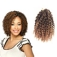 curly punokset Jheri Curl -kiharat 100% kanekalon-hiuksia 100% kanekalon hiuksetBlack / Medium Auburn Musta / Burgundy Musta / Harmaa