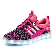 Tyttöjen Lenkkitossut Comfort Välkkyvät kengät Tyll Kevät Kesä Syksy Urheilullinen Kausaliteetti Kävely LED Matala korkoMusta Vihreä