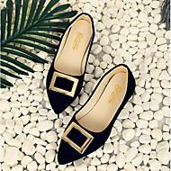 Feminino Sapatos Couro Ecológico Verão Conforto Mocassins e Slip-Ons Para Casual Preto Rosa claro