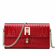 Damen Taschen Ganzjährig Kuhfell Umhängetasche mit für Normal Rote