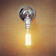 1 stk e27 edison vintage loft midtgangen krom vegglampe glidelås bryter uten lampe for 110 / 220v