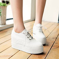 Ženske Ravne cipele Udobne cipele PU Proljeće Jesen Kauzalni Ravna potpetica Obala Crn Crvena 5 cm - 7 cm