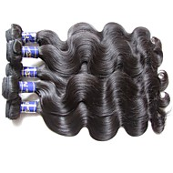 prawdziwa najwyższej jakości peruwiańska sylwetka fala dziewiczy włosy 6bundle 600g dużo na dwie głowice tkane naturalny czarny kolor