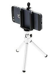 I-12-2-SL Desktop Mini Tripé de alumínio com um único convés duas seções (Sliver) e Mobile Phone Tripod Mount Holder