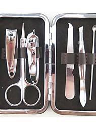 6個のチェック包装ステンレス製の爪切りは、マニキュアペディキュアキットをはさみ