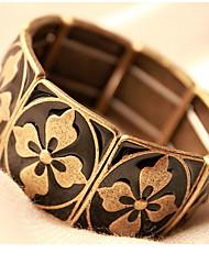 Square Ancient Elastic Four Flower Bracelet