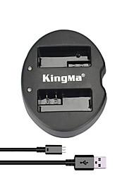 Carregador de Bateria USB com Ranhura Dupla KingMa® para Bateria LP-E8 Canon e Câmera EOS 550D 600D 650D 700D