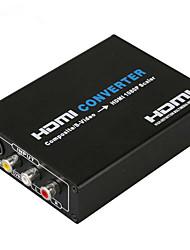 HDMI konverter kompozitni s-video HDMI 720p 1080p djelitelj Audio Video Converter CVBS L / D ulaz