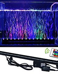 LED Aquário Luzes 50 SMD 5050 lm RGB Controle Remoto Decorativa Impermeável AC 100-240 V 1 pç