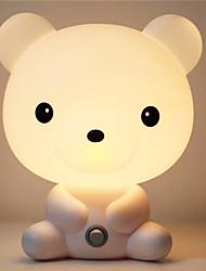 schattig bruin cartoon 's nachts licht dier babykamer slaap lichte slaapkamer bureaulamp nachtlampje beste voor geschenken
