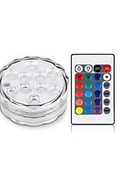 1Pcs Sem Fio Outros Rgb 10Led Smd5050 4.5v Remote Waterproof Vase Lamp Multi Cores