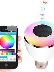 bl08a lâmpada Bluetooth inteligente alto-falante 4.0 de música lâmpada LED e27 luz do feriado inteligente dom decoração do partido