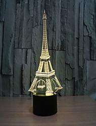 torre 3 d lâmpada estéreo visual criativo lâmpada a lâmpada de projeção lâmpadas de toque