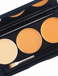 pro 3 värin muotoilu peitevoide 2in1 blush blusher contour bronzerin pohja kirkas matta kerma kosmetiikka paletti