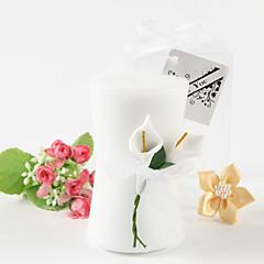 Květinový motiv Svíčka ODMĚNY Piece / Set Svíčky Nepřizpůsobeno Bílá