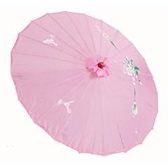 """Mătase Ventilatoare și umbrele de soare Piece / Set Umbrele de soare Temă Florală Roz19""""înălțime x 32 1/3"""" în diametru(48cm înălțime×82cm"""