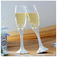dubbele hart 'ons moment' champagne roosteren fluiten