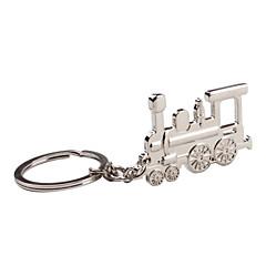 metaal zilver trein sleutelhanger
