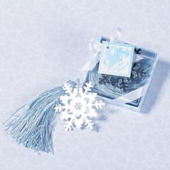 Marcadores e Abre Cartas(Prata / Azul) -Tema Clássico-Casamento / Festa de Despedida de Solteiro Aço Inoxidável