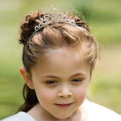 Для девочек Стразы Сплав металлов Заставка-Свадьба Особые случаи Диадемы Ободки