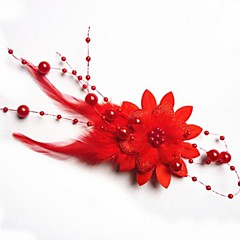 Muoti Bride sulka päähine kukka hiusneula