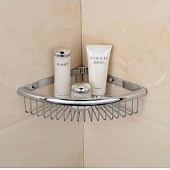 krom finish trekant enkelt hylder messing materiale vægmonteret badeværelse sæbe kurv