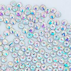 1400pcs 3.0mm kimallus Crystal AB strassi kynsikoristeet koriste