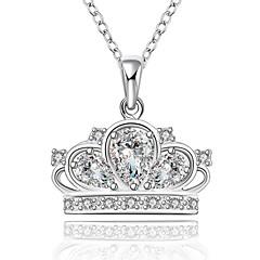 Dame Kubisk Zirkonium Rhinstein Enlig Snor Rund Form Sølv kostyme smykker Smykker Til