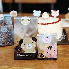 120pcs selo animais bonitos adesivos caixa de doces cozimento embalagem artesanal favorece decorações da festa de casamento do chá de bebê