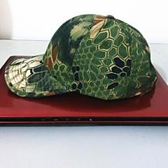 ESDY Angeln Outdoor winddichte Polyester-Camouflage-Baseballmütze Sonnenblende grüne python