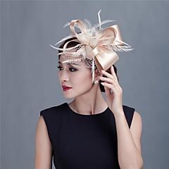 נשים נערת פרחים סאטן נוצה כיסוי ראש-חתונה אירוע מיוחד קז'ואל חוץ קישוטי שיער