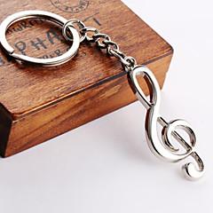 Unisex alloy key chain notes key chain